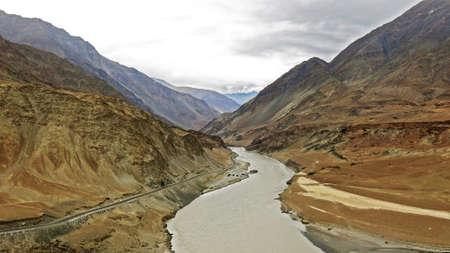 plains indian: Zanskar river, Leh Ladakh