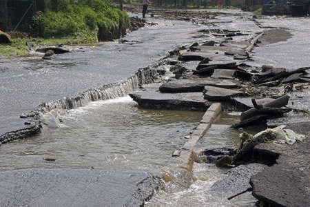 disintegration: Flood-beskid-poland