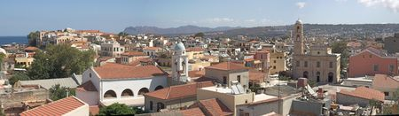 kreta: view of Chania - crete Stock Photo