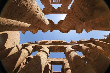ancient relics: karnak - egypt Stock Photo