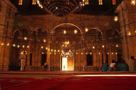 mezquita: Mohammad Ali (Mezquita de Alabastro) en El Cairo, Egipto  Foto de archivo