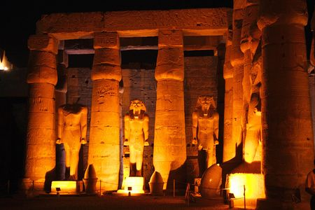 luxor: Egypt - Luxor - view of temple