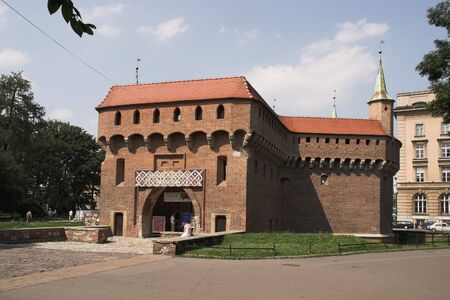 cracow: old centre of ity - Cracow - Poland - barbakan Stock Photo