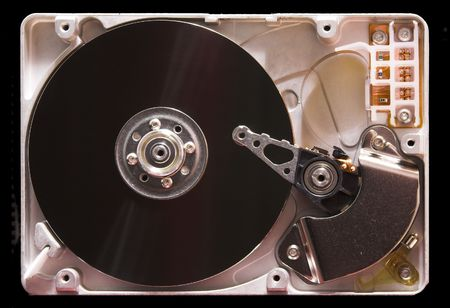inside view of hard drive from computer Stock Photo - 2550329