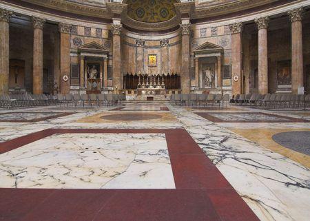 pantheon: inside view of Pantheon - rome