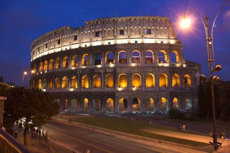 different view of colosseum - rome photo