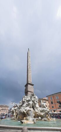 pilasters: Rome - view of Piazza di Navona Stock Photo