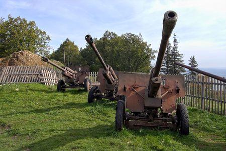 armament: old military equipment fom II world war