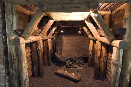 inside view the old mine(mine of gold - zloty stok - poland) photo