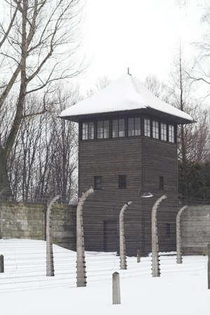 judaic: different view of konzentration lager Auschwitz from second world war