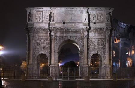 constantine: view ofArch of Constantine - Rome