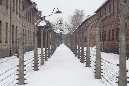 nazis: different view of konzentration lager Auschwitz from second world war