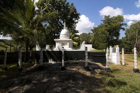 anuradhapura: view of  buddhist temple Anuradhapura Isurumunija - Sri Lanka Stock Photo