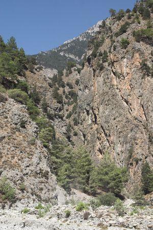 samaria: different view of canyon Samaria at Crete