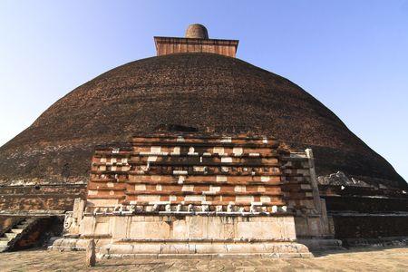 anuradhapura: Anuradhapura - view of stupa Jetavanaramaya Stock Photo