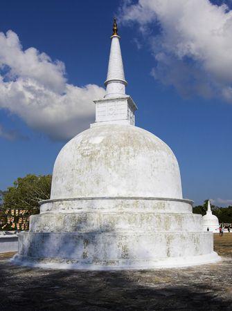 anuradhapura: Anuradhapura - Ruwanwelisaya - small stupa near  Big Stupa Stock Photo