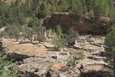 kreta: different view of canyon Samaria at Crete