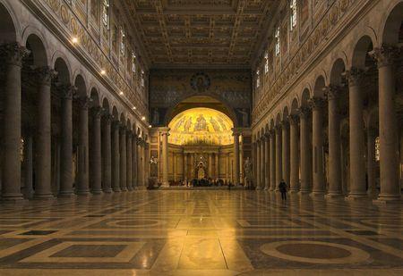 Rome indoor of  san paolo fuori le mura