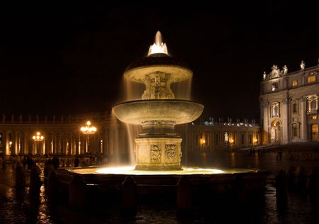 Vatican - night`s view of St. Peters Square photo