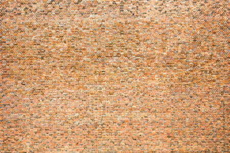 Main part of very big red brick wall in Germany