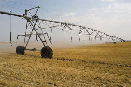 great plains: irrigating crop in great plains Stock Photo