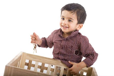 boy two years old at play Stock Photo - 6751334