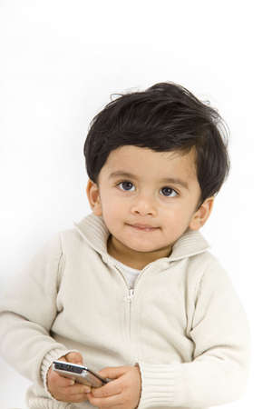 indian children: 1 year old boy with indian origin