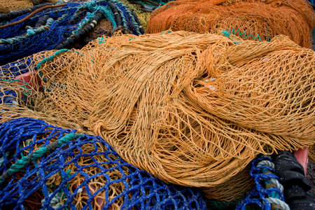 colorful fishing nets  Stock Photo