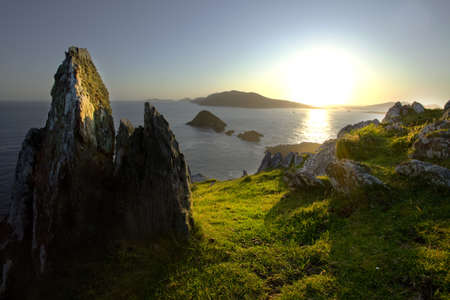 blasket islands at sunset