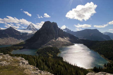 assiniboine: mount assiniboine with lakes from high lookout