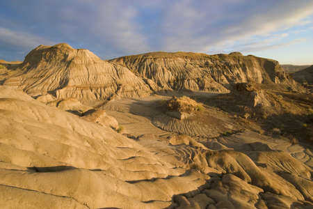 badlands with erosion rills in dinosaur provincial park Stock Photo - 6950014