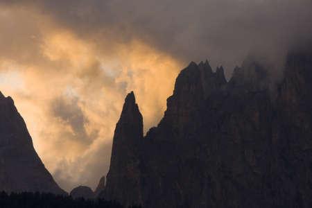 colorful dawn in dolomite alpes Stock Photo - 6949968