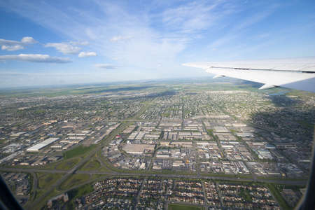 aerial photo of calgary taken from starting plane Stock Photo - 7586825