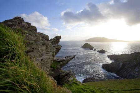 dunquin: storm clearing on irish west coast Stock Photo