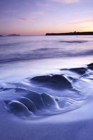 blasket islands: colourful twilight on irish westcoast dingle