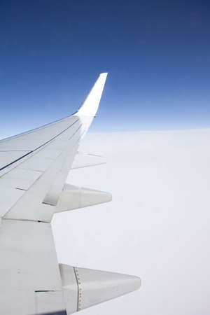 airfoil: plane in the air,airfoil Stock Photo