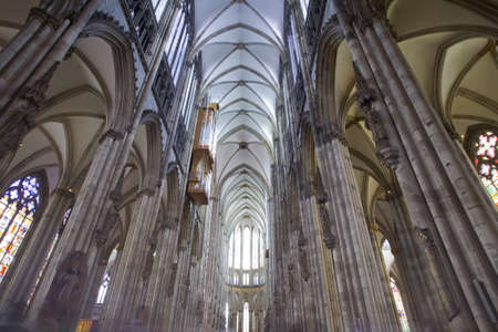 cathedral cologne interiour architecture,wide angle Stock Photo - 9442365