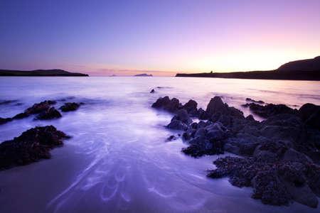 dunquin: pastel colours at twilight on irish beach