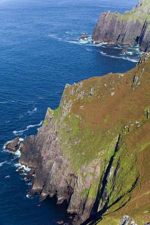 steep cliffs: steep cliffs on irish west coast