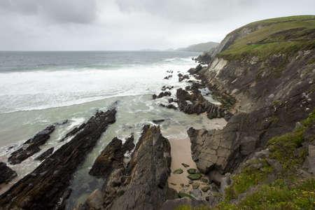 dunquin: rain clouds over irish west coast
