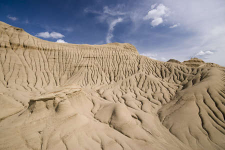 badland: desert badland hills with alien flair, no vegetation Stock Photo