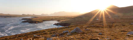 panorama of sunrise over irish coastline on dingle peninsula Stock Photo - 10753590