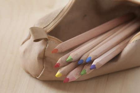 sheath: leather sheath with pencils