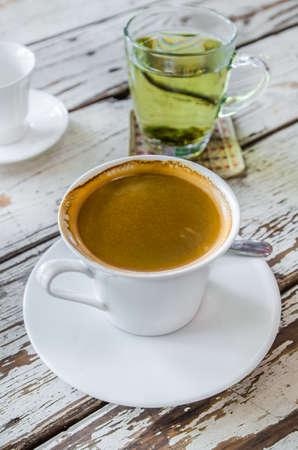 americano: hot coffee americano Stock Photo