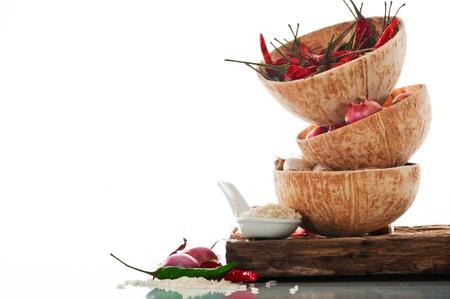Pittige Aziatische kokende ingrediënten