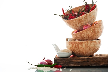 Spicy Asian cooking ingredients photo