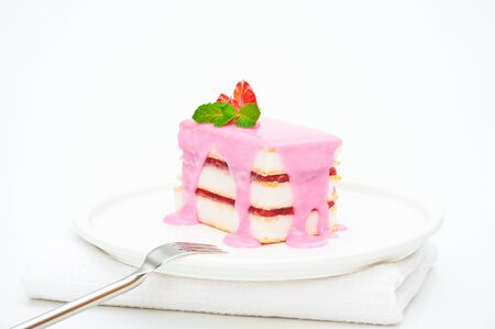 Small cakes with a pink icing Stock Photo - 10825875