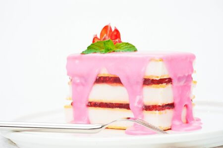 Small cakes with a pink icing Stock Photo - 10825872