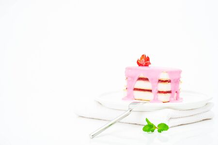 Small cakes with a pink icing Stock Photo - 10825862