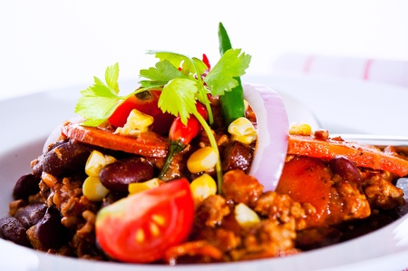the corn salad: Mexican speciality - Chili con carne